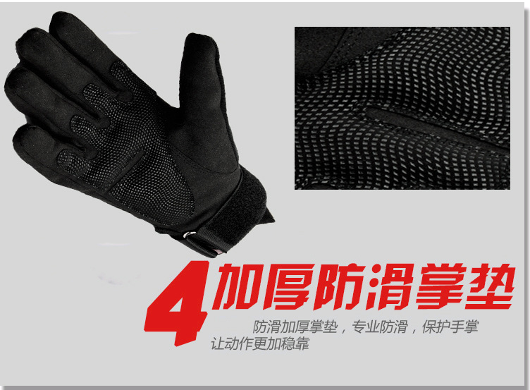 Army Military Tactical Gloves Men Winter Full Finger Hard Knuckle Gloves Paintball Airsoft Shoot Combat Anti-Skid Bicycle Gloves 4