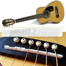 New Arrival Buffalo Bone Bridge Saddle Replacement Guitar Parts For 6 String Acoustic Guitar(China)