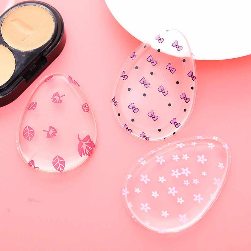 1Pcs Silicone Make Spons Gelei Poeder Cream Puff Spons Gezicht Stichting Luipaard Glitters Make Up Tool Beauty Accessoires Nieuwe