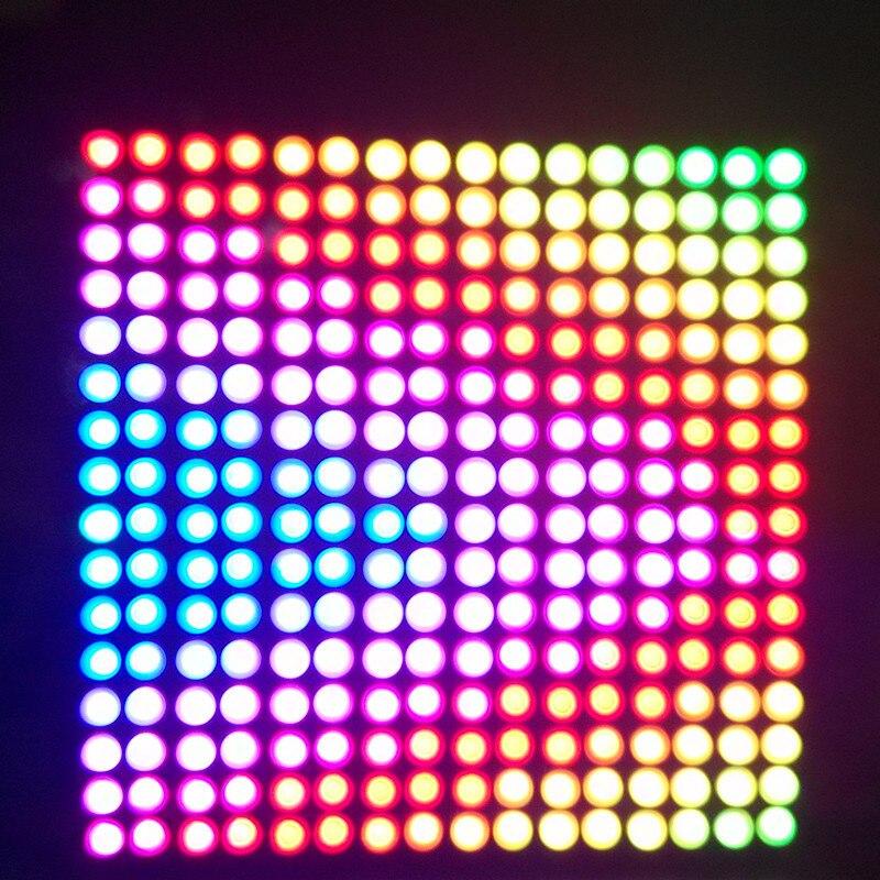 1 pcs WS2812B 16x16 Pixel LED Dissipador chip Digital Individualmente endereçável módulo de led Placa de Exposição Do Painel Flexível DIY DC5V