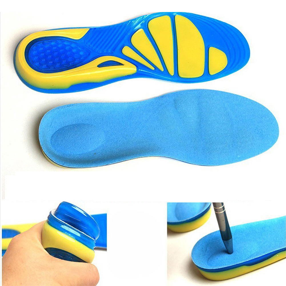 Silicon Gel Insoles Foot Care For Plantar Fasciitis Heel Spur Running Sport Insoles Shock Absorption Pads Arch Orthopedic Insol