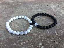 2 шт дистанционные браслеты черно белая подходящая пара на большое
