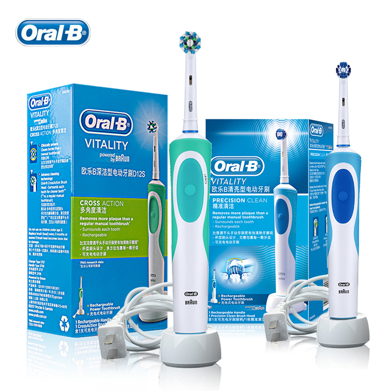 Oral B Vitality Electric Toothbrush or Replaceable Brush Heads for Adult Rechargeable Electric Tooth Brushes Teeth Whitening image