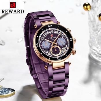 Hot Reward Women's Wristwatch Fashion Waterproof Travel Date Timepiece Girls Watch Casual Wrist Watch for Women Quartz Watches 3