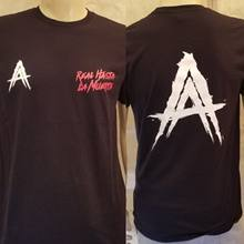 Anuel AA Real Hasta La Muerte T-shirt Tee Zwart Tour Slechte Bunny T-shirt Tour 69(China)