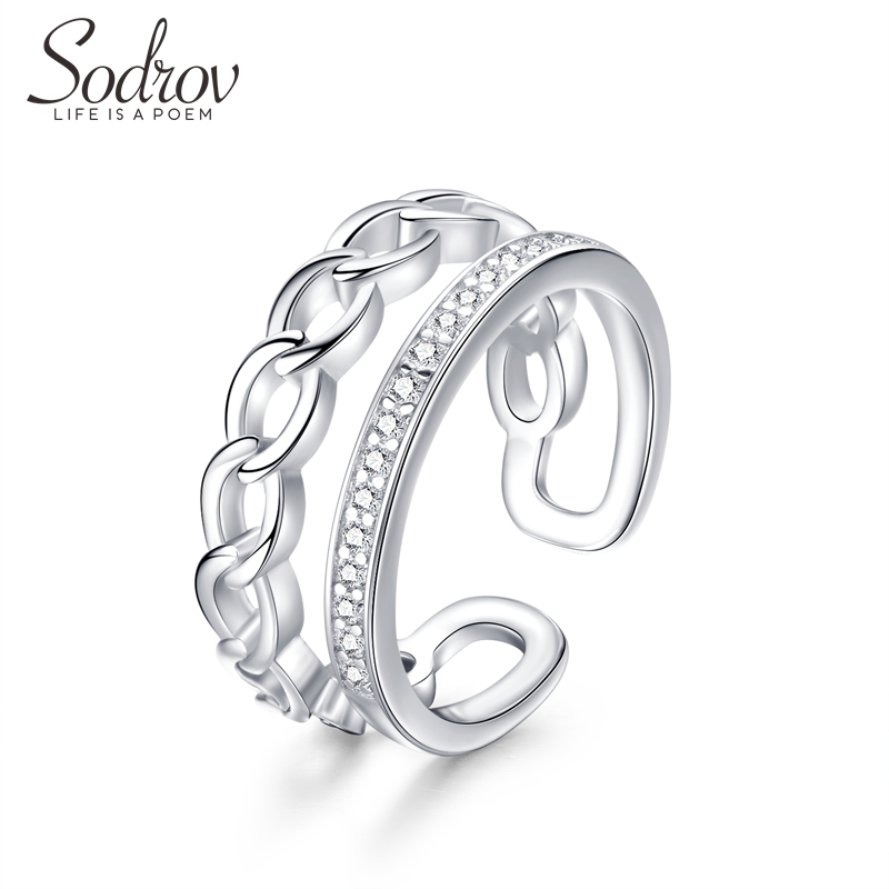 Sodrov Rings Jewelry 925 Sterling Silver Party For Women Zircon Wedding Bands Fine Accessories