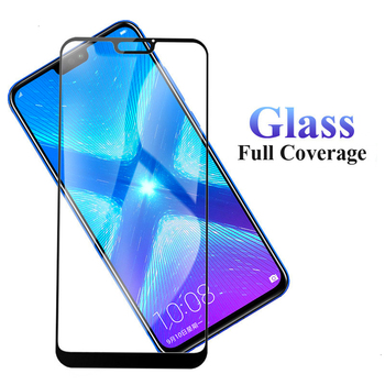 100Pcs Full Coverage Tempered Glass For Huawei Honor Play 3 6X 7S 7C 7A 8 Lite 8A Pro 8S 8C 8X Screen Protector Protective Film