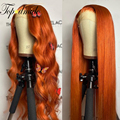 Парик из натуральных бразильских волнистых человеческих волос с предварительно выщипанными волосами 13x4, плотность 180%, без клея