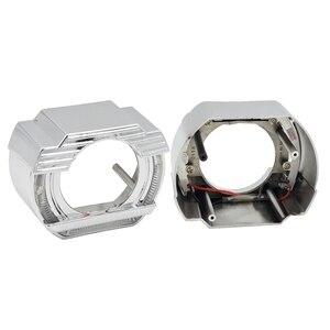 Image 3 - 2.5 lenti per fari LED Angel Eyes lente bi xeno Devil Eyes proiettore per proiettori H4 H7 H1 accessori per luci auto Tuning