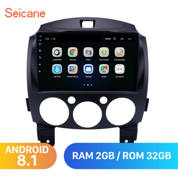 "Seicane Android 8.1 For MAZDA 2/Jinxiang/DE/Third generation 2007-2013 2014 Car Radio GPS 9"" 2Din Unit Multimedia Player 3G wifi"