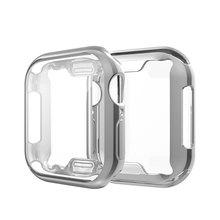 360 Тонкий чехол для часов Apple Watch, чехол 5, 4, 3, 2, 1, 42 мм, 38 мм, мягкий прозрачный ТПУ защитный экран для iWatch 4, 3, 44 мм, 40 мм