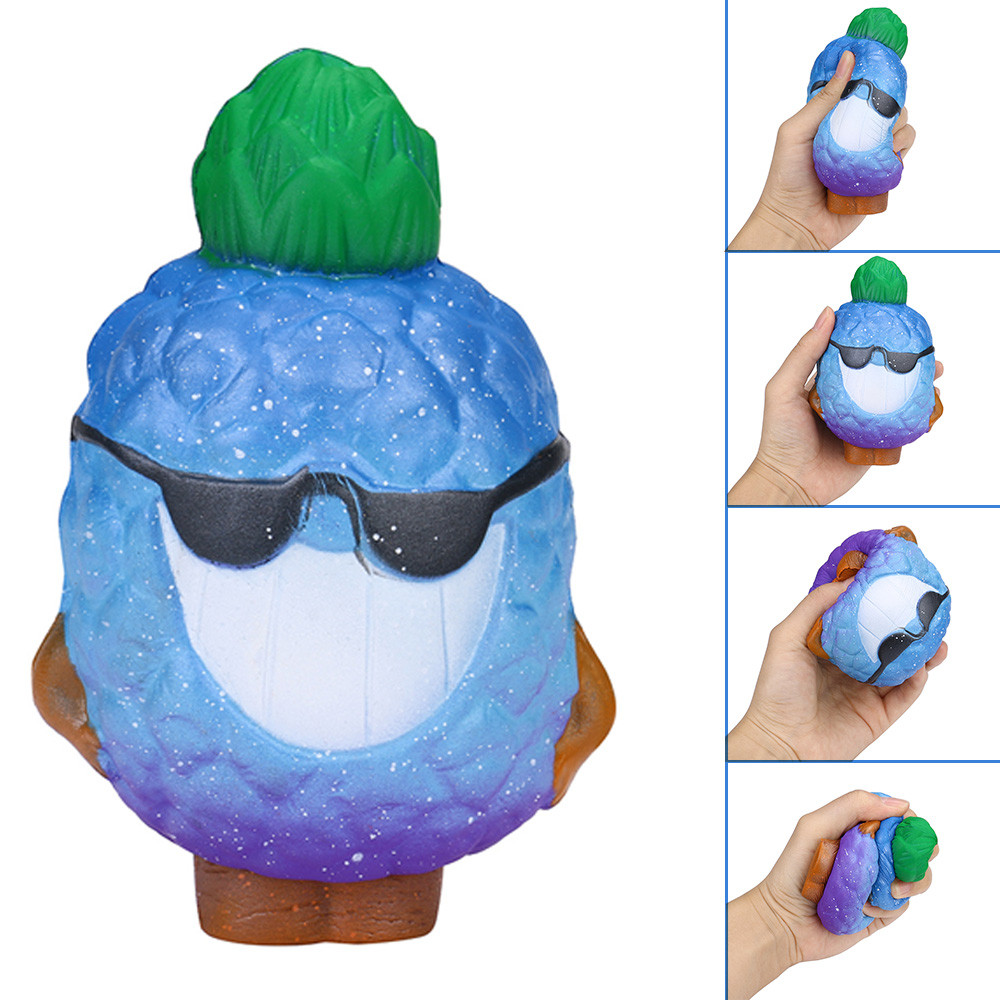 Cool Cartoon Galaxy Pineapple Toys Antistress Funny Kids Toy Charm Slow Rising Squeeze Stress Reliever Collection Toys L0115
