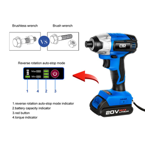 Image 4 - 300Nm Electric Cordless Drill Screwdriver Brushless Motor Impact Driver Combo Kit 34pcs Drill Bits 20V Power Tool by PROSTORMER