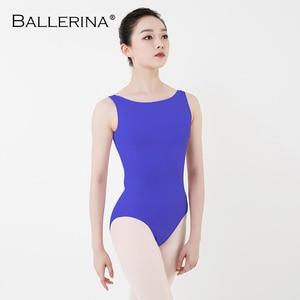 Image 1 - Leotardo de Ballet para mujer, traje de baile de práctica, para Adulto, aerista, gimnasia, sin mangas, leotardos rojos, bailarina, 5684