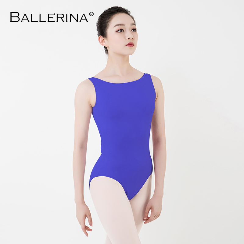 Women Ballet Leotard Practice Dance Costume Adulto Aerialist Gymnastics Sleeveless Red Leotards Ballerina 5684
