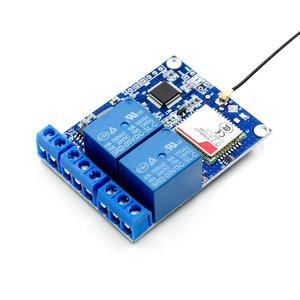 Image 2 - 2 kanal röle modülü SMS GSM uzaktan kumanda anahtarı SIM800C STM32F103C8T6 sera oksijen pompası için