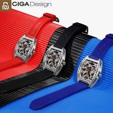 Youpin çiğ tasarım saat kayışı silikon dişli kayış değiştirme bilezik CIGA mekanik kol saatleri izle Z MY serisi