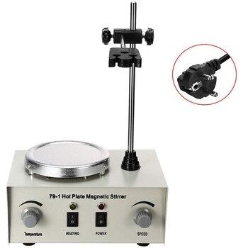Hot Lab Heating Dual Control Mixer 79-1 220V 250W 1000Ml Hot Plate Magnetic Stirrer No Noise/Vibration Fuses Protection(EU Plug)