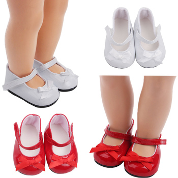 18 inch Girls doll shoes American newborn Fashion bow dress shoes Baby toys fit 43 cm baby dolls s11 недорого