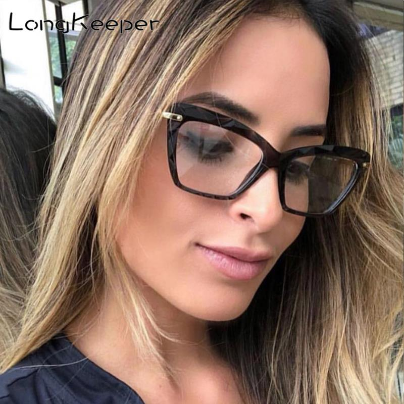 Cat Eye Transparent Women's Glasses Luxury Brand Spectacles Clear Frame Female Eyeglass Frame Fashion Optical Nerd Glasses Lens