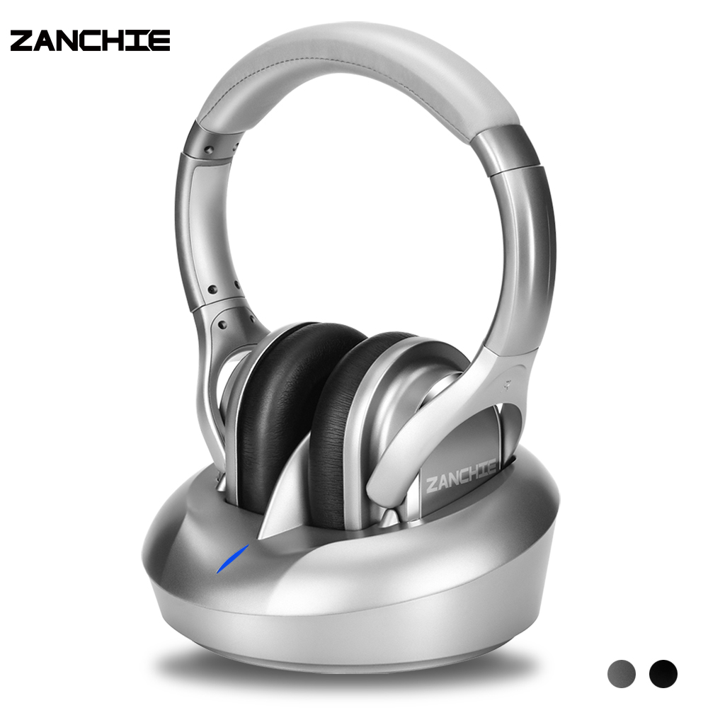 Zanchie Wireless Headphones for TV Watching with RF Transmitter 330ft Range-Digital OPTICAL RCA AUX10Hrs BatteryNo Audio Delay