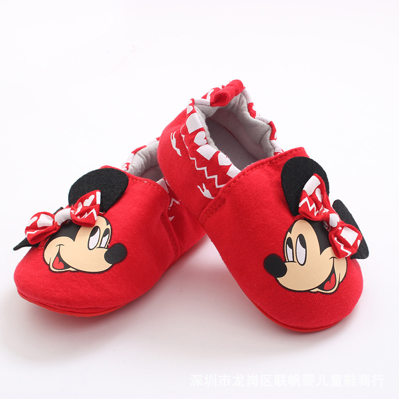 Disney Baby Shoes Soft Sole Toddler Shoes MICKEY  Non-slip  Grils Boys Shoes