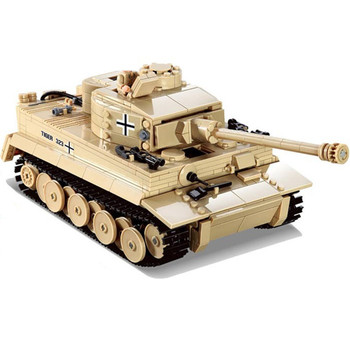 995Pcs German King Tiger Tank Model Building Blocks Sets Military WW2 Army Soldiers Kit DIY Bricks Educational Toys for Children tamiya rising german steyr vehicles model 1500 a 01 military vehicles 35305 army officers and soldiers