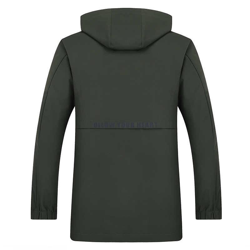 Mais tamanho 8xl 9xl 7xl novo trench coat roupas de marca masculina alta qualidade longo do exército verde casaco blusão