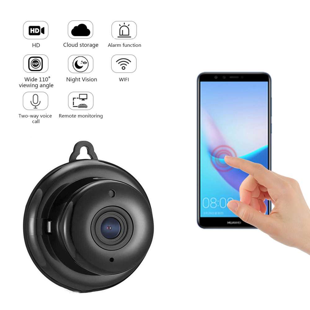 V380 Mini Wifi 960P HD IP Camera Wireless Infrared Night Vision Motion Detection 2-Way Audio Motion Tracker Home Security