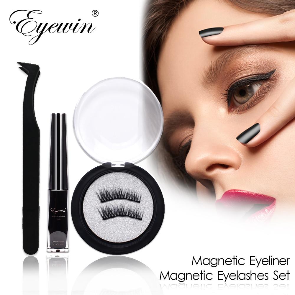 Magnetic Eyeliner & Magnetic Eyelashes Makeup Set Waterproof Liquid Eyeliner With Reusable False Magnetic Lash For Dropshipping