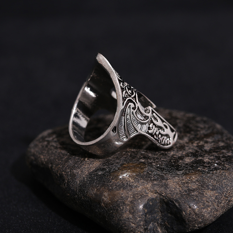 Spartan Hero with Helmet Mask Ring For Men Individuality Biker Rock Warrior Rings