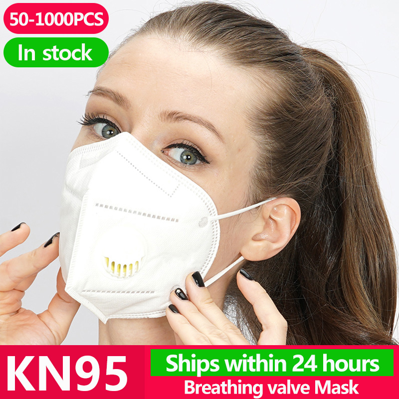 50~1000PCS KN95 N95 Gas Protection Mask Flu Facial Dust Pm2.5 Filter Respirator Ffp3 Antivirus Masks Kf94 Ffp2 Template Shield