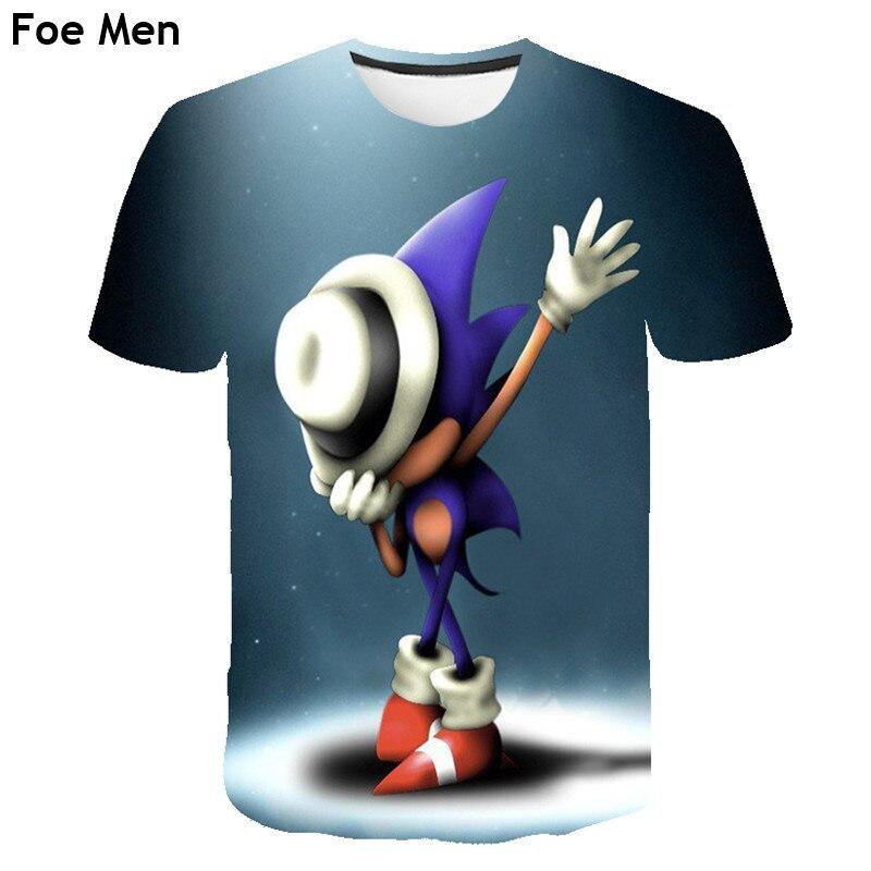 Men T-shirt Children Sonic The Hedgehog 3d Printed T Shirt Homme Unisex Casual Short Shirt Cartoon Tshirt Boy Funny T Shirts