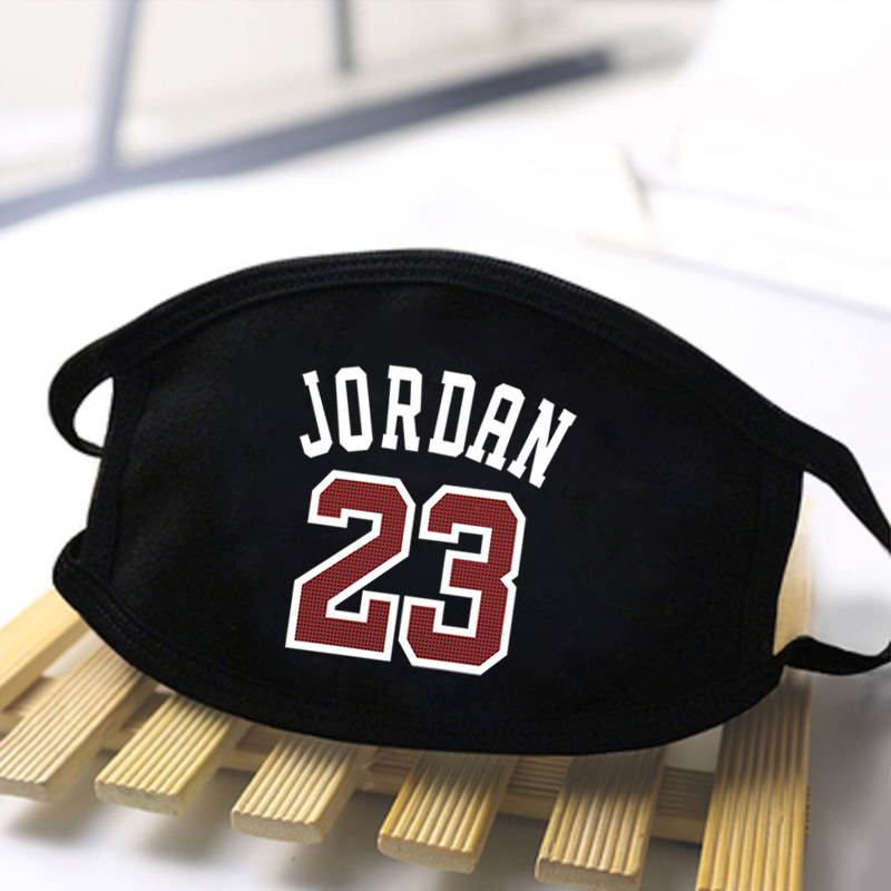 Jordan 23 The Walking Dead Printing Masks Unisex Black Warm Anti Dust Windproof Washable Mouth Muffles Breathable Respirator
