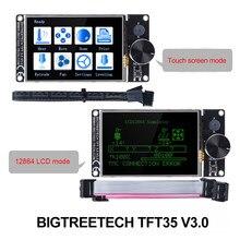 Bigtreetech tft35 v3.0 tela sensível ao toque/12864lcd peças de impressora 3d para skr v1.4 turbo skr v1.3 ender 3 vs mks tft35