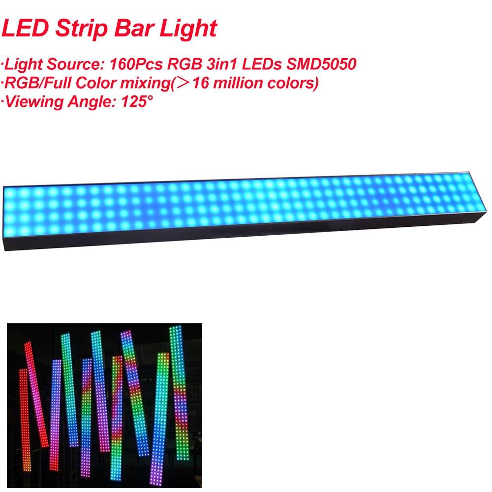 1 упаковка, светодиодный светильник 100 см, 160 шт., SMD5050 RGB, полноцветная светодиодная лента, брусок, светильник s, 25 мм, Шаг пикселей для украшени