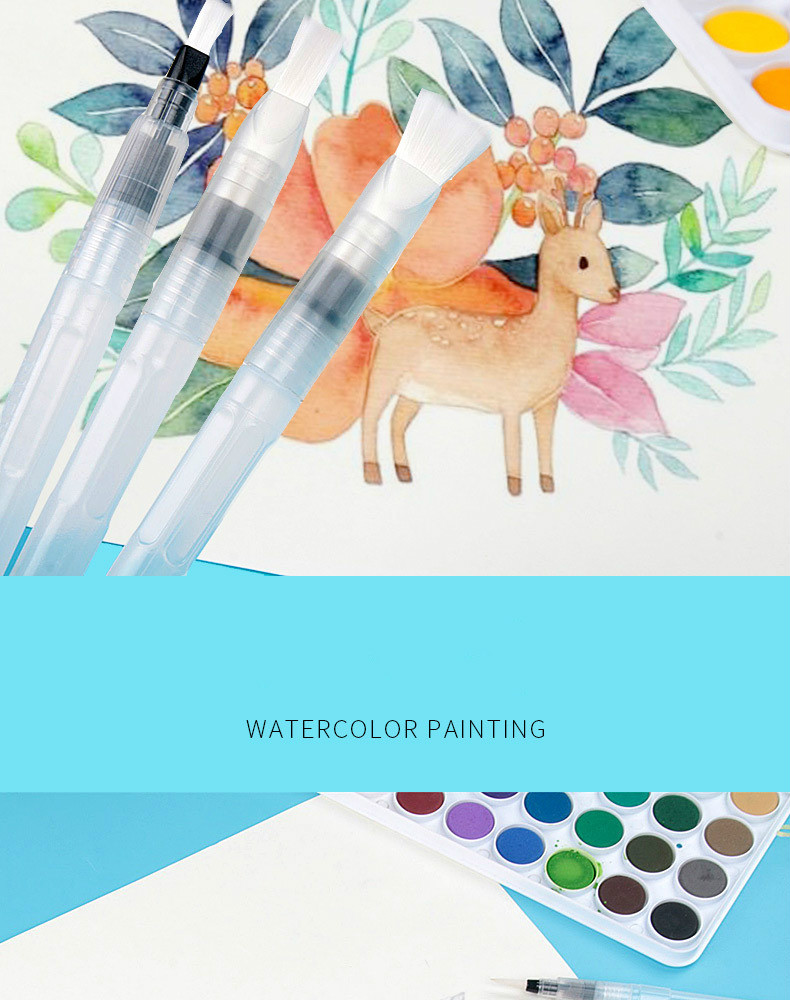 He17a58182cce409bb7845ed6623e1632V - 1PC Portable Paint Brush Water Color Brush Pencil Soft Watercolor Brush Pen for Beginner Painting Drawing Art Supplies