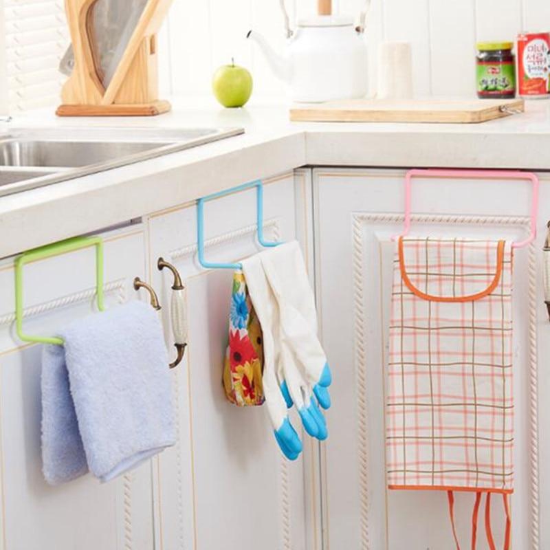 Kitchen Stuff Towel Rack Drainer Hanging Holder Storage Rack Kitchen Organizer Cupboard Hanger Bathroom Rack Accessories