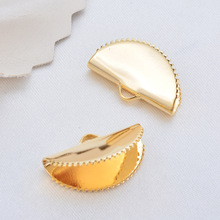 10 PCS wide 15 MM 20 MM 25 MM 24 K Gold Color brass Arc -shaped rope End closure hook high quality jewellery Accessories 1pcs yt651 wide 100 mm hook