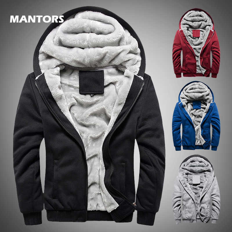 Winter männer Verdicken Fleece Hoodies Warme Sweatshirts Solide Sportswear Zipper Hoodie Männer Mit Kapuze Oberbekleidung Casual Windjacke Tops