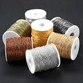 2 м/лот, медный бамбуковый шар, цепи для поделок, металлические цепочки для ожерелья Kc золотого цвета, Фурнитура для бижутерии
