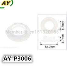 1000pieces injetor de combustível pintle tampa arruela plástica, gaxeta para 0280155976 0280156036 (AY P3006, 13.2*3.7*6.7mm)