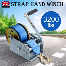 3200lbs 10m Polyester Strap Hand Winch Heavy Duty Safety Portable Hand Winch Auto Boat Truck Hand Manual Winch 9500lbs12v 24v portable copper core motor winch power recovery winch cable puller winch kit atv winch trailer truck truck