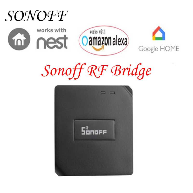 Sonoff RF most WiFi 433 MHz automatyki inteligentnego domu przełącznik inteligentny Domotica bezprzewodowy pilot zdalnego kontroler RF Google Alexa domu
