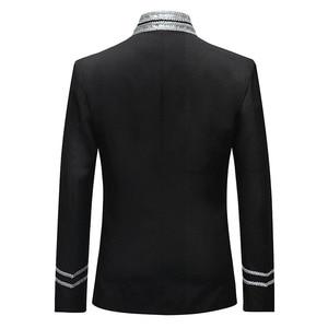 Image 2 - Мужская приталенная куртка Shenrun, блейзер в стиле милитари, однобортная драматическая сцена, вечерние костюмы размера плюс для выпускного вечера, 2019