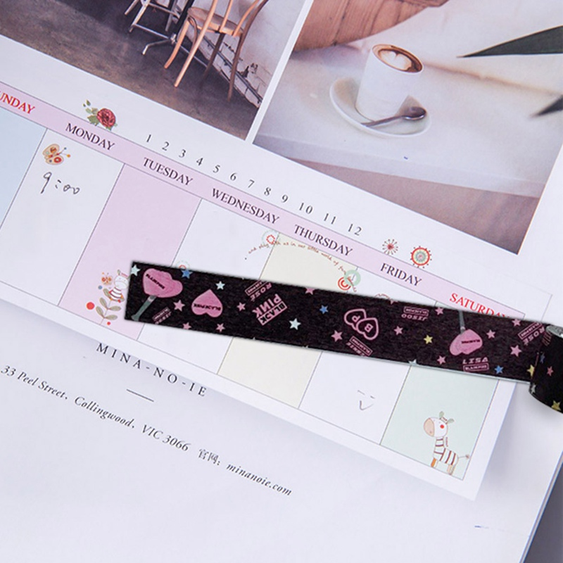 1Pc Fashion KPOP BLACKPINK Paper Decorative Making Washi Tapes DIY Diary Scrapbooking Stationery Label Sticker Fans Gift