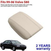 Accoudoir en cuir voiture Console centrale couvercle couverture pour Volvo S80 1999-2006 accoudoir couverture peau voiture Auto pièces couvre
