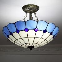 Multicom European Aisle Ceiling Chandelier Lamp Simple Anti Blue Mediterranean Garden Style Iron Lamp 1629cw deco chambre