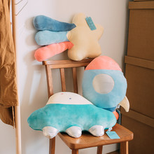 50cm Plush Pillow Comfortable Soft Pillow Spaceship Meteor Sofa Pillow Sleeping Pillow Product For Baby Children Birthday Gifts(China)