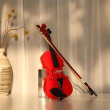 Splint Rosin-Case Violin-Fiddle Bow with Muffler-Kits Bright Exerciser-Set for Musical-Lover